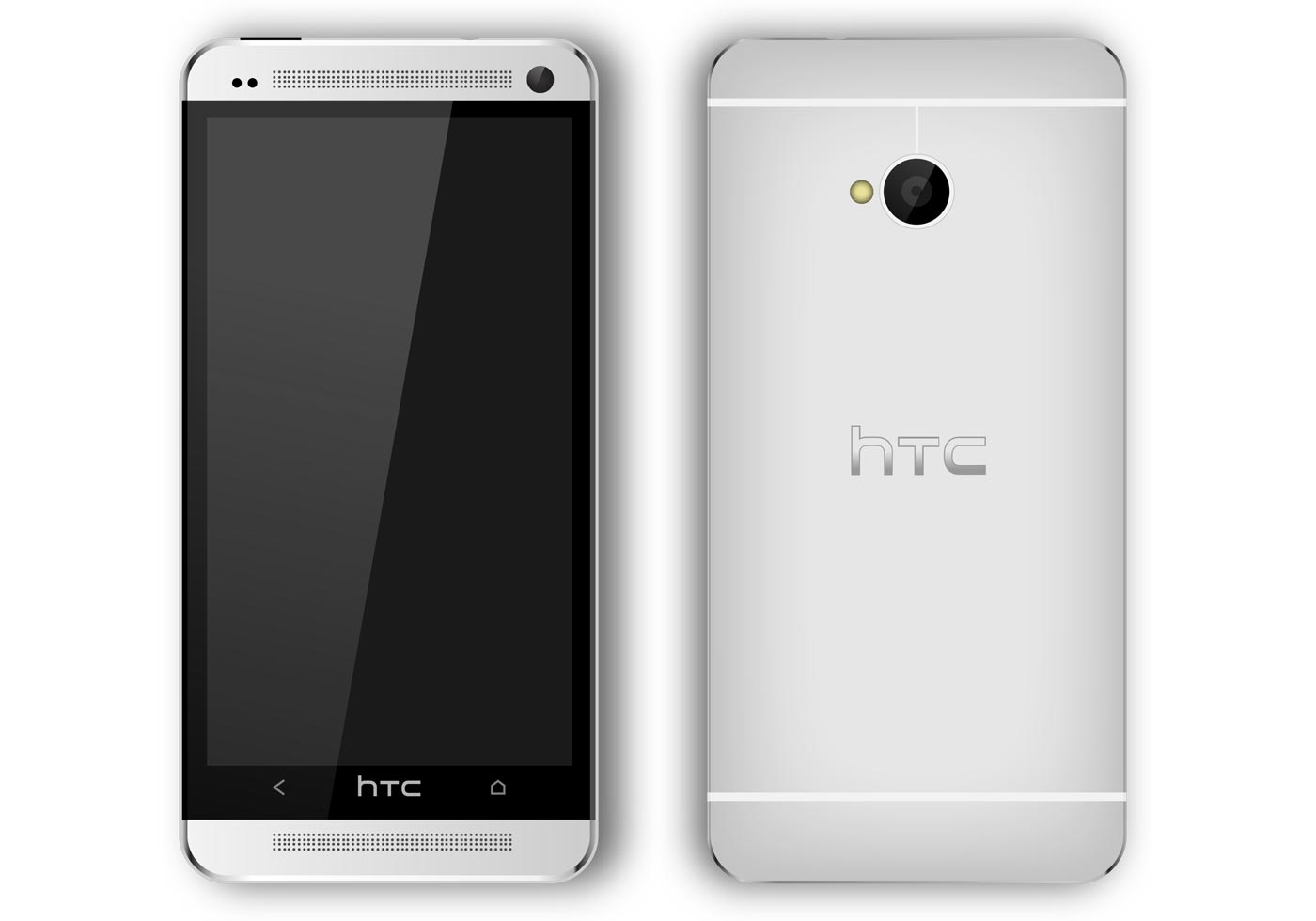 HTC One Smart Phone Vector