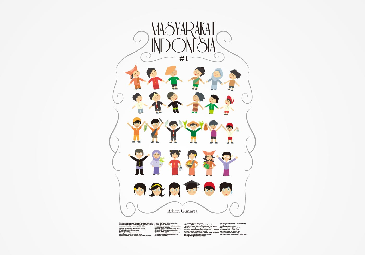 Masyarakat Indonesia  Download Free Vector Art, Stock Graphics  Images