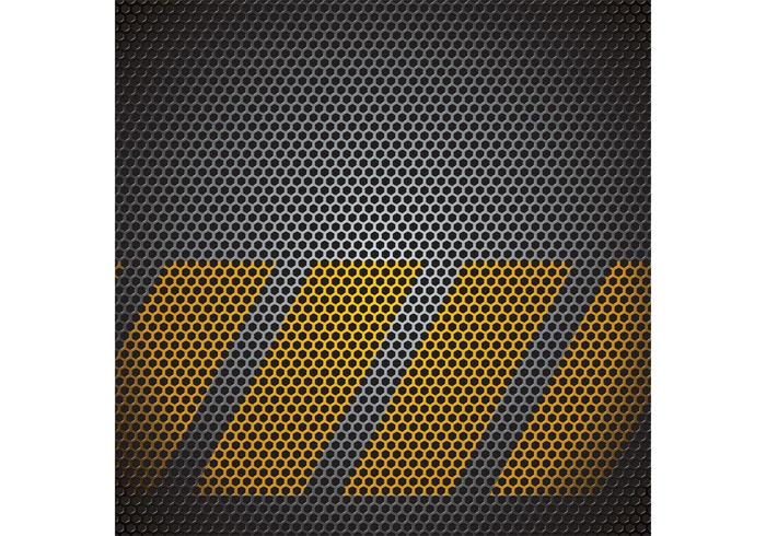 Vector Metal Grid Vector