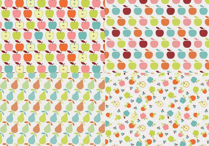 Retro Apple Vector Pattern Pack