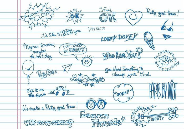Handgeschreven Doodle Vector Pack