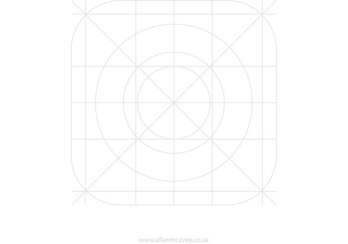 IOS7 App Icon Vector Grid
