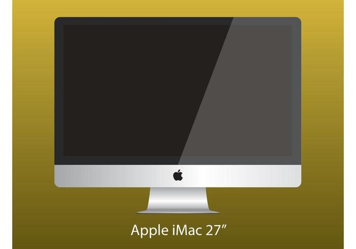 "Apple iMac 27"" Computer Vector"