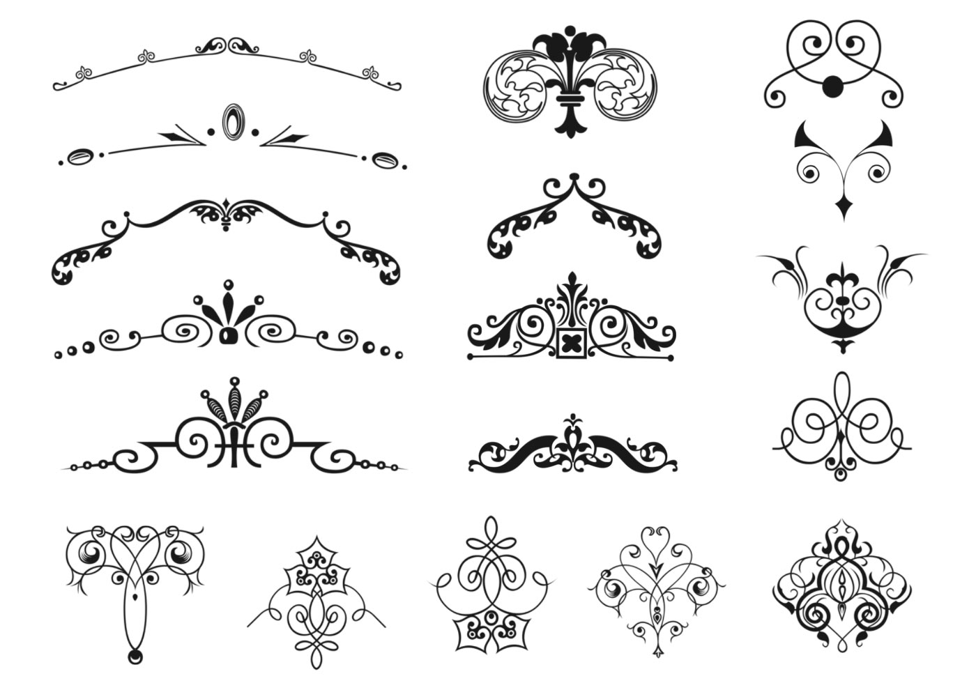 Vintage Border And Ornament Vector Pack Download Free