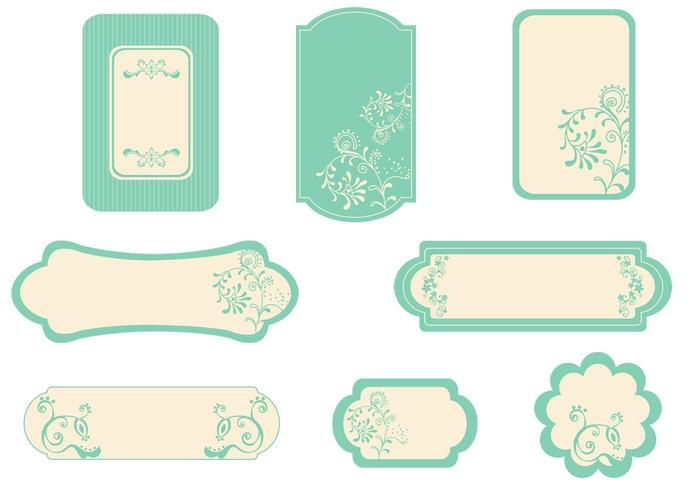 Vintage Mint Label Vector Pack