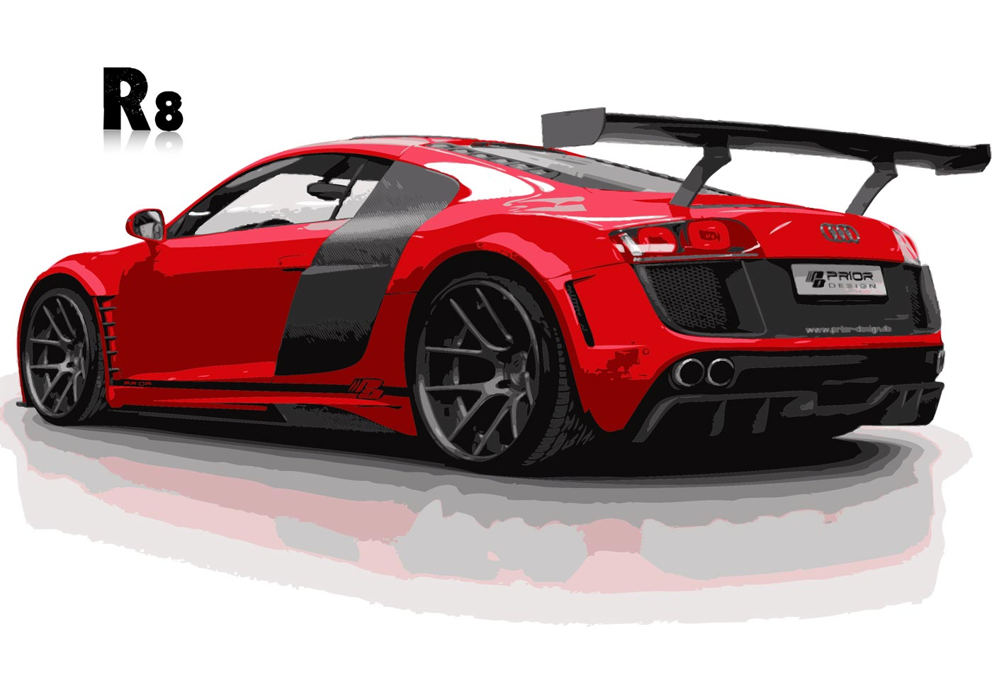 Audy R8 Sportscar Vector | Free Vector Art at Vecteezy!