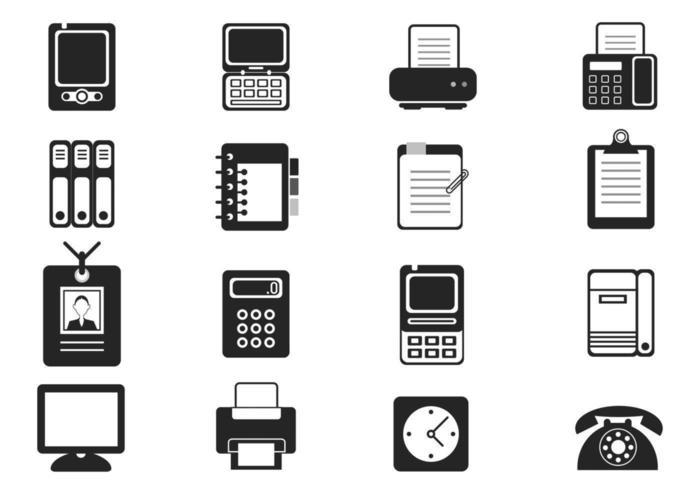 Vecteurs d'icônes d'équipement de bureau vecteur