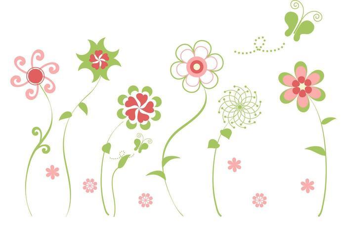 Resumen de flores Vector Pack