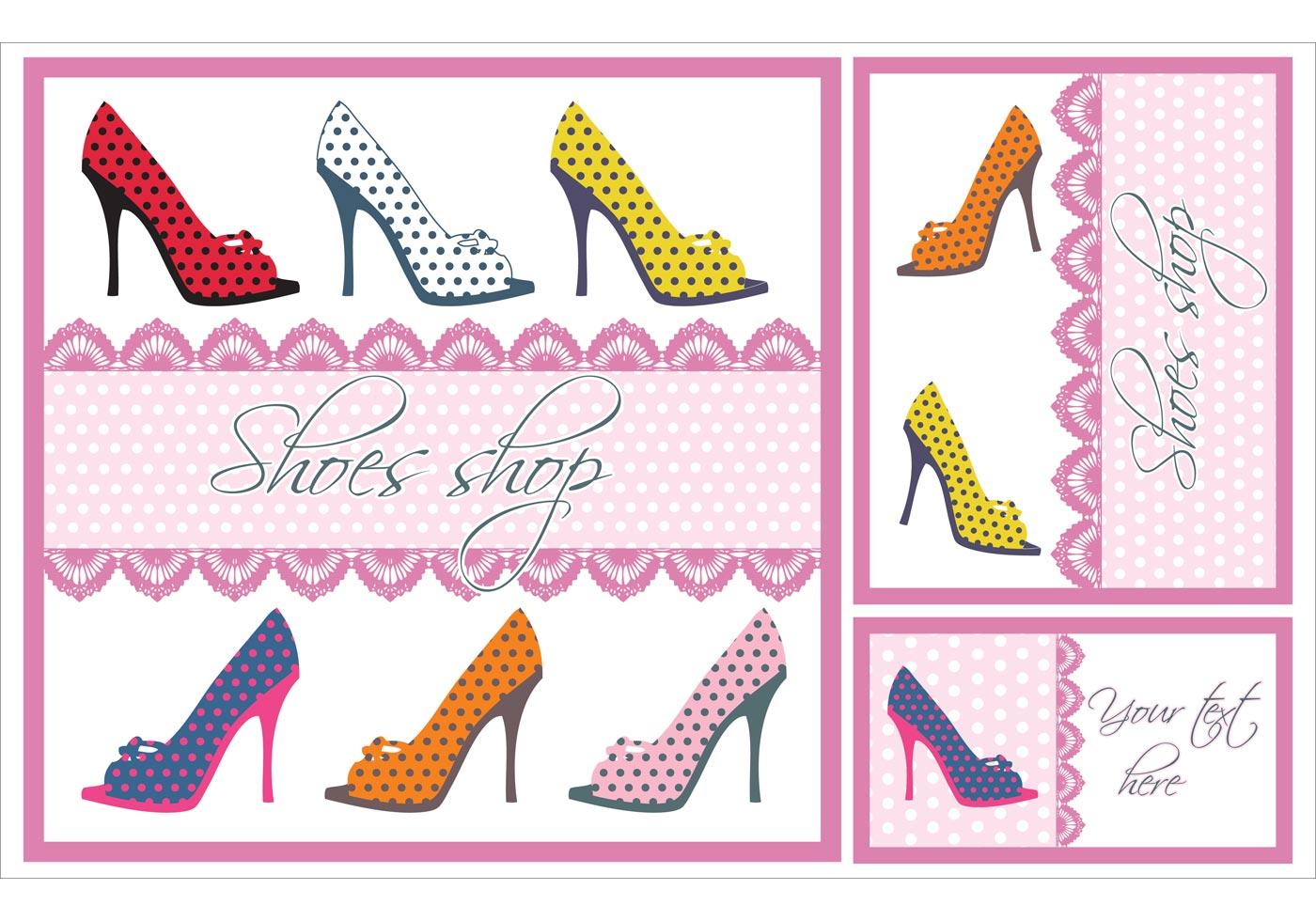 Shoes Vector Card Set