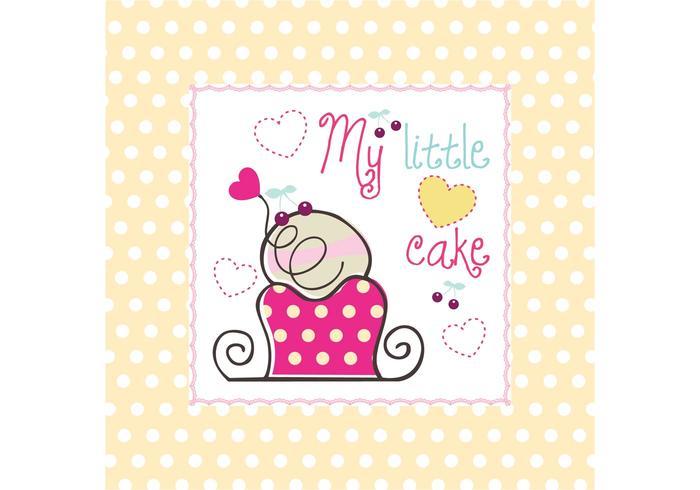 Min lilla tårtavektor