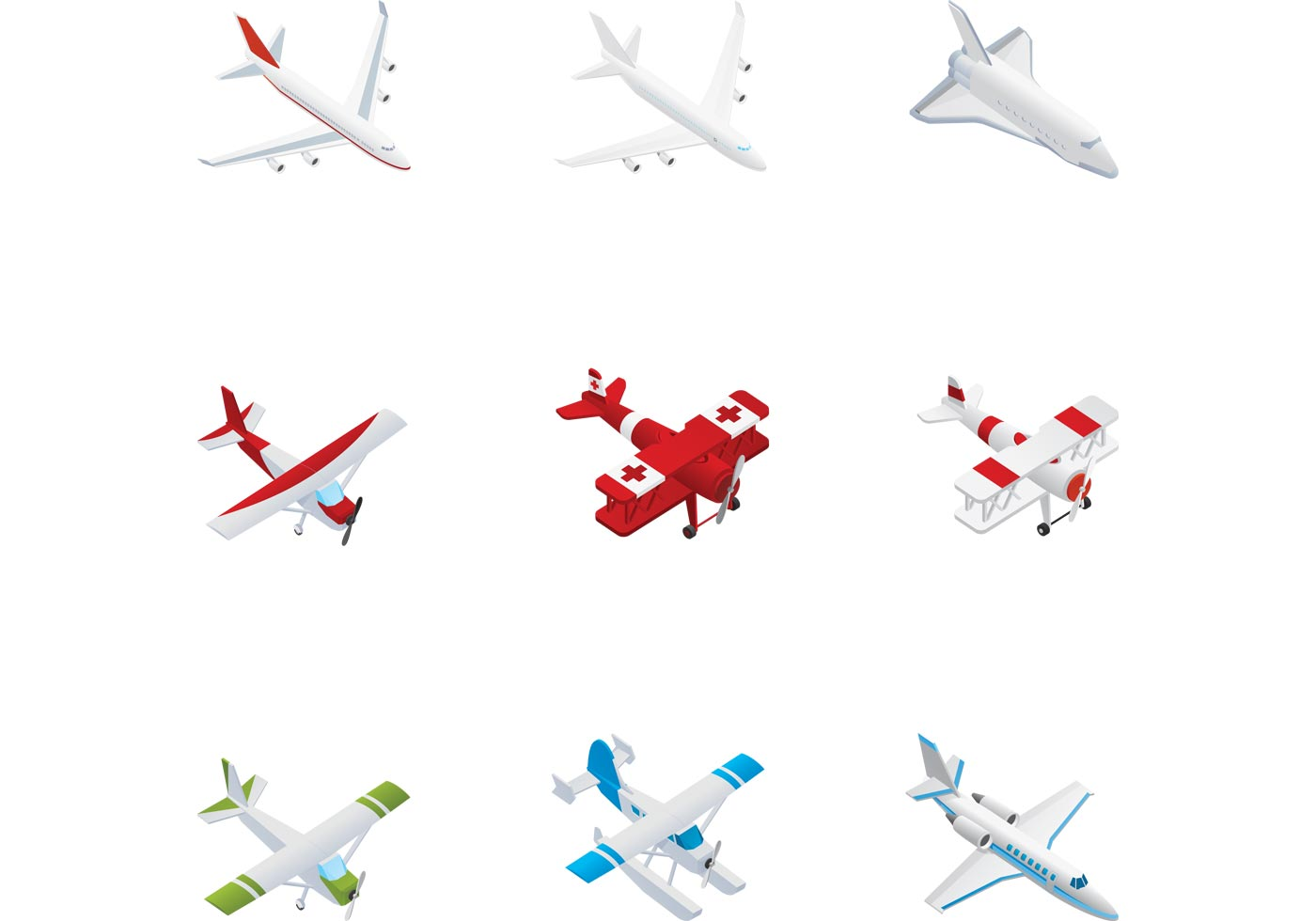 Airplane free vector art 8657 free downloads airplane vector pack buycottarizona Gallery