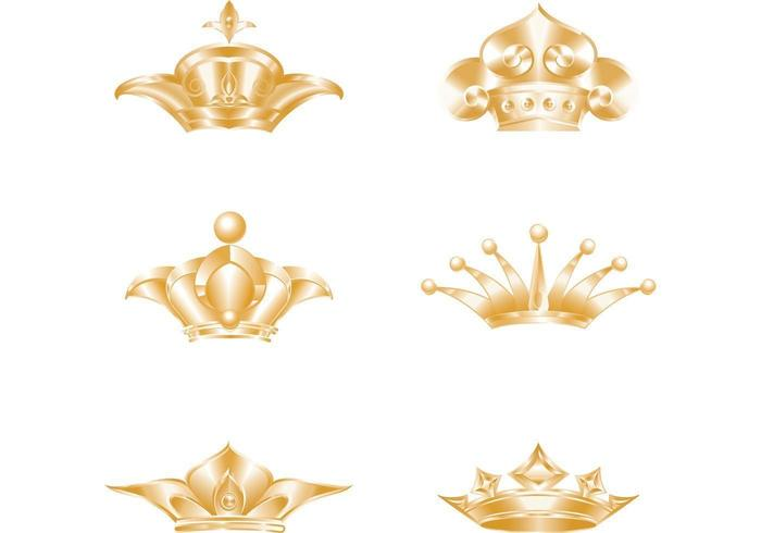 Golden Crown Vector Pack