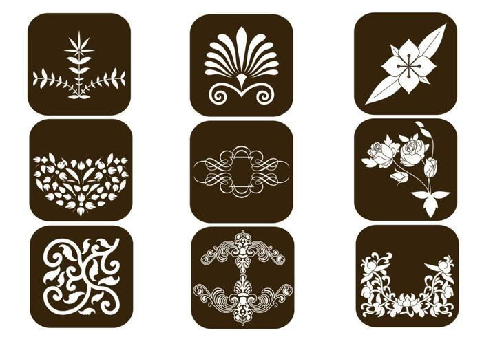 Floral Design Vector Elements Pack