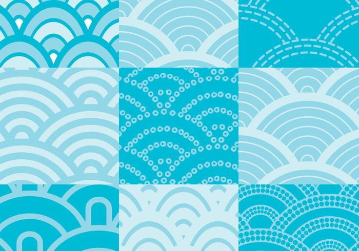 Wave Pattern Pack Vector