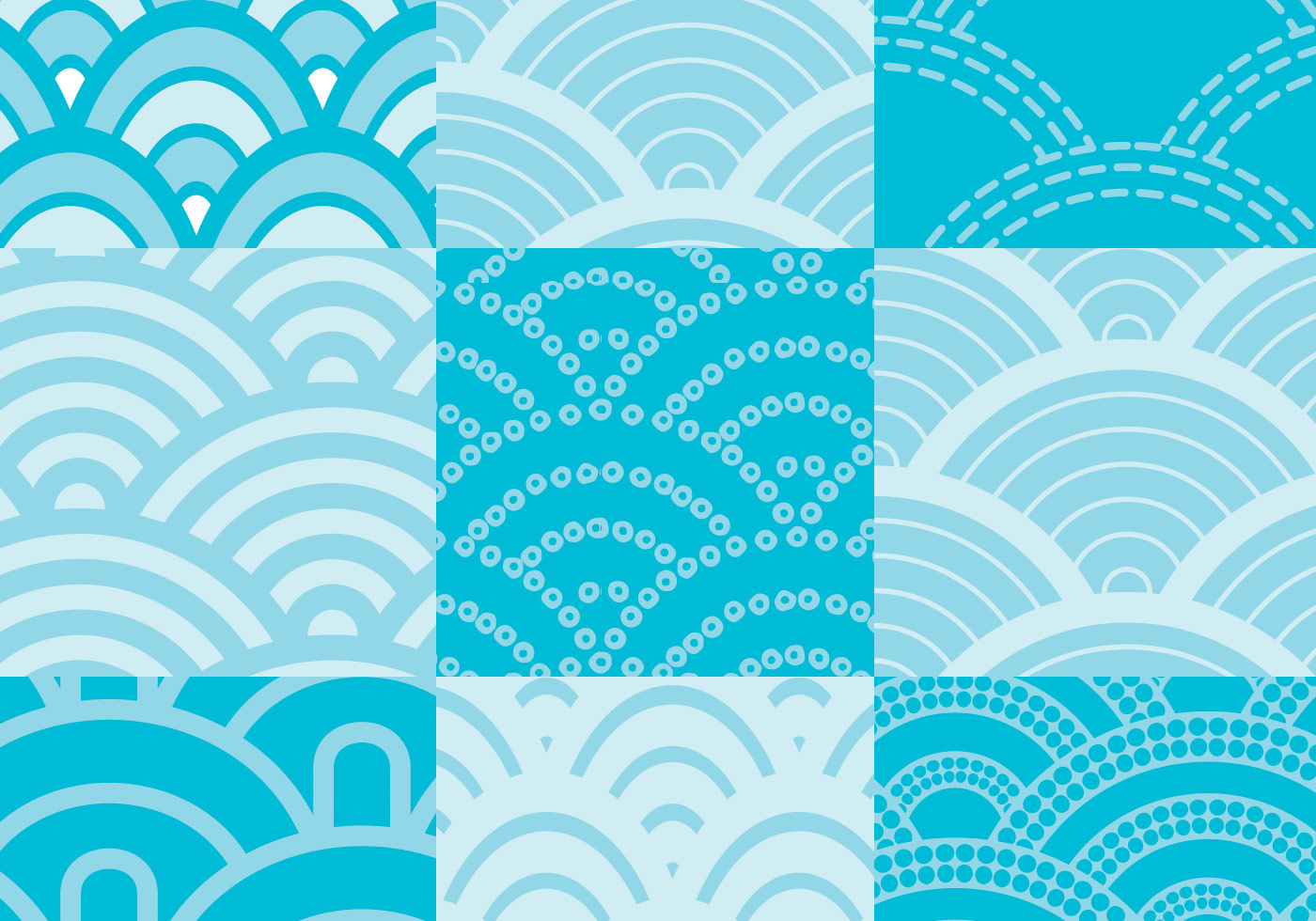 Wave Pattern Vector Pack - Download Free Vectors, Clipart ...