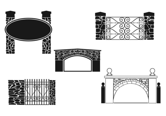 Stone Gate Vector Pack