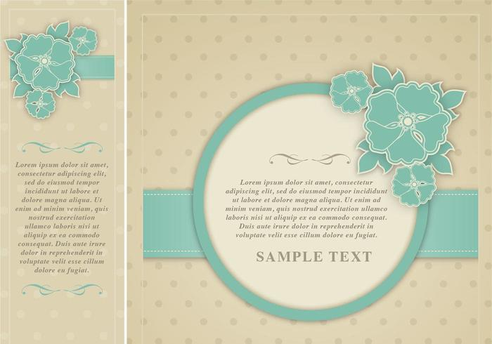 Polka Dotted Floral Vector Vector Marco