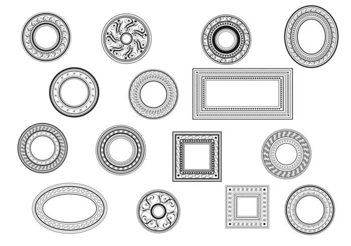 Dekorative Weinlese-Rahmen-Vektor-Packung