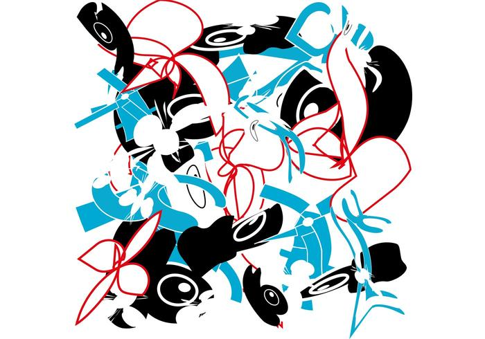 Tornado in Town Abstract Vector Pattern