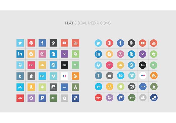 Flat Social Media Icon Vectors | Free Vector Art at Vecteezy!