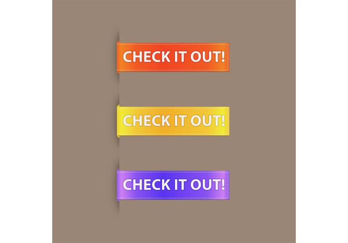 Simple Promotional Button Vector Ribbon