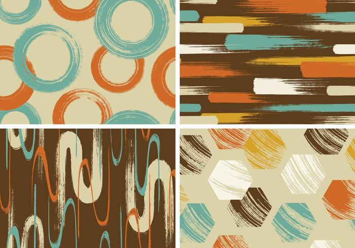 Retro Grungy Vector Background Pack