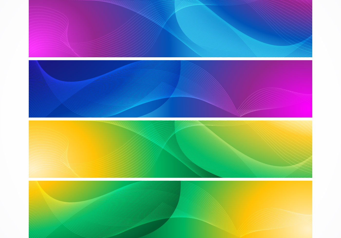 Banner: Bright Abstract Wave Banner Vectors