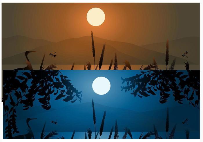 Vete och berg Sunset Bakgrunder