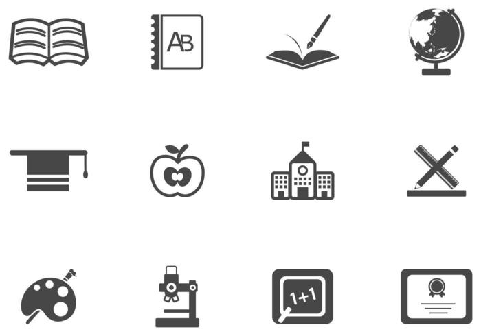 Simple School Vector Icons Pack