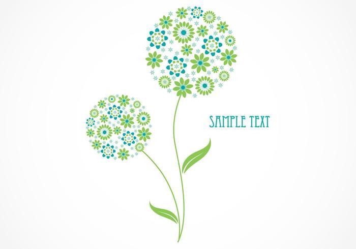 Abstract Floral Vector Wallpaper