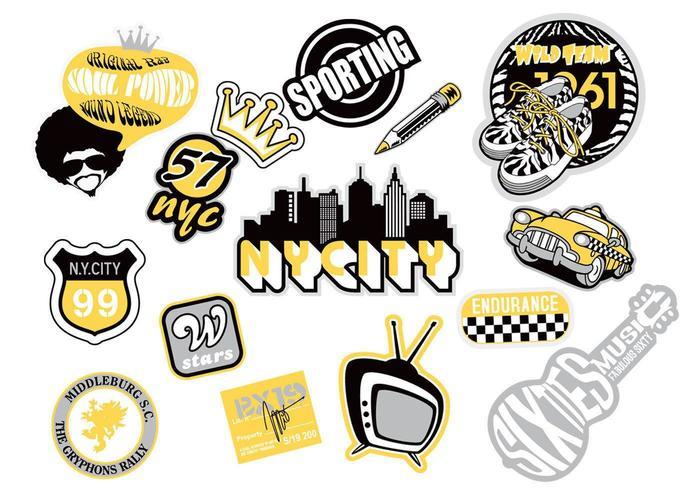Urban Sticker Vector Pack