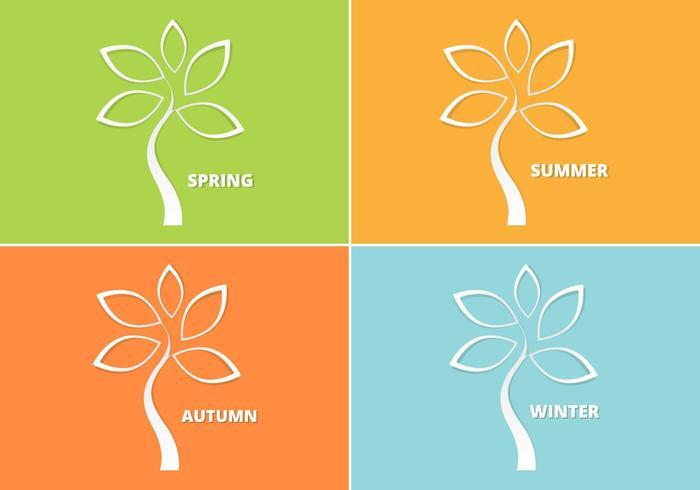 Cutout Seasonal Tree Vector Pack