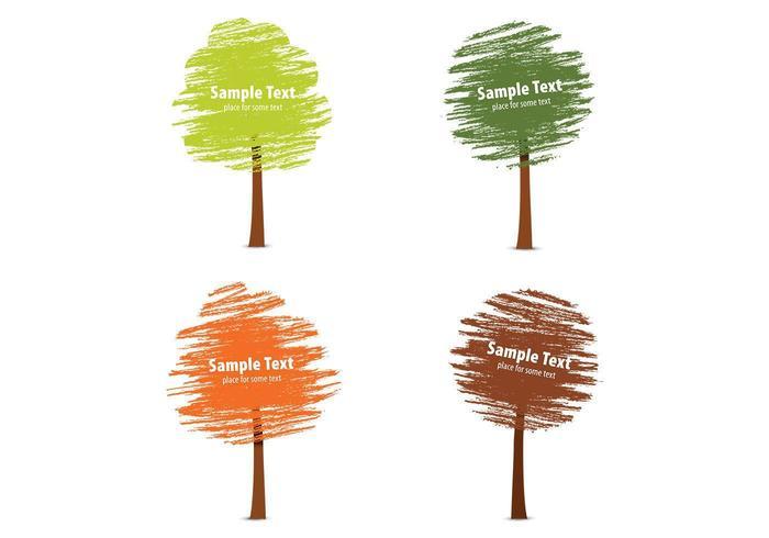 Kalkdragen fall Tree Vector Pack