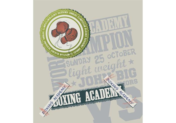 Boxing Academy Vector