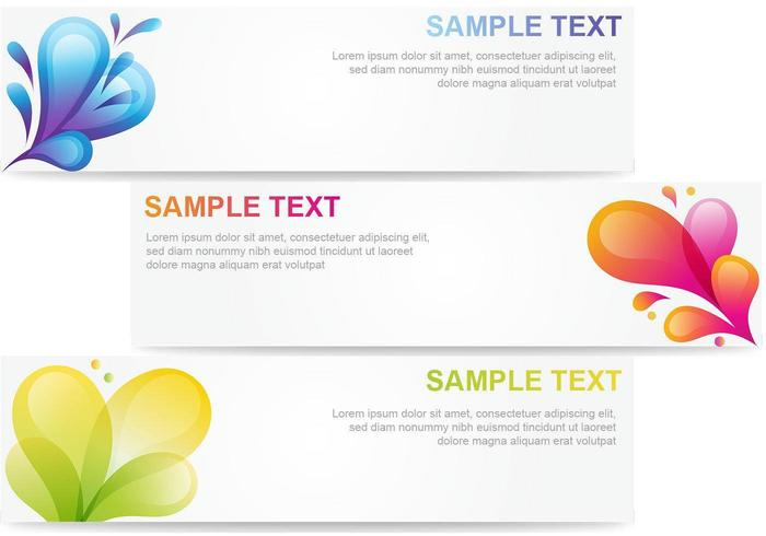 Abstract Bubble Banner Vector Pack