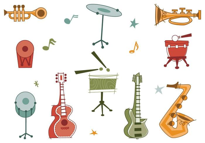 Retro Musical Instrument Vector Pack