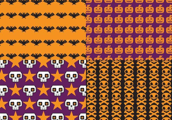 Bright Halloween Pattern Vector Pack