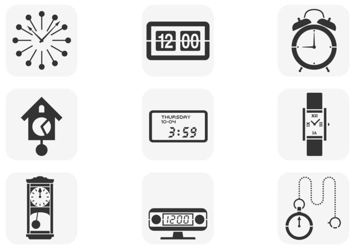 Various Clock Vector Pack