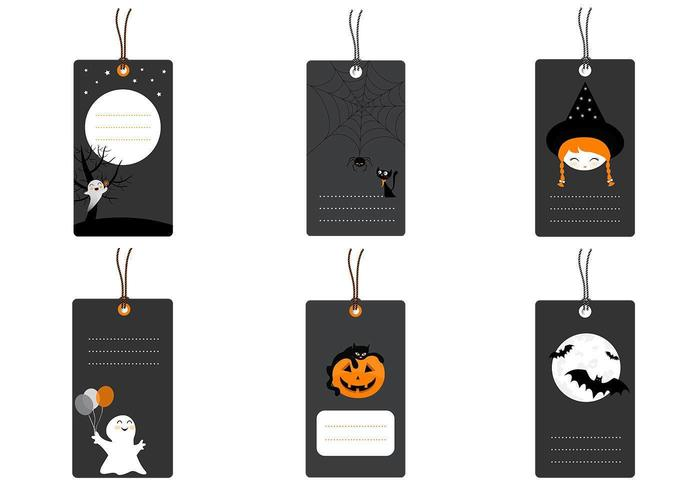 Halloween Tag Vector Pack