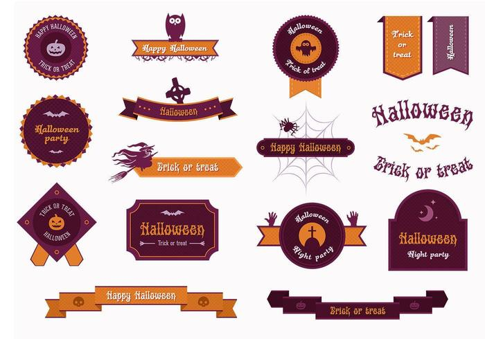 Halloween Etikett Vector Pack