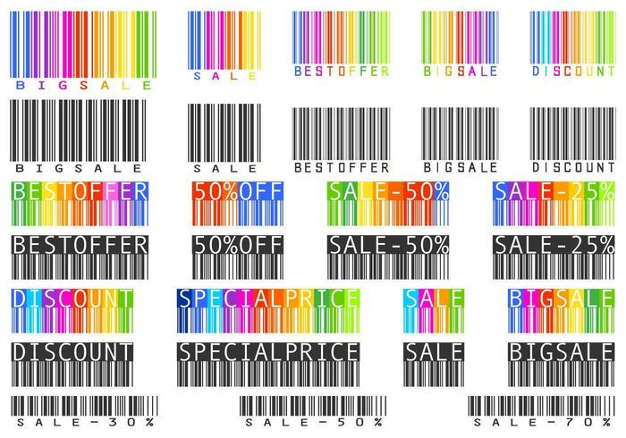 Sale Bar Code Vector Pack