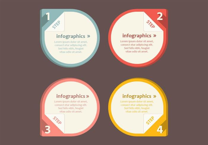 Numbered Infographic Pointer Vector Pack