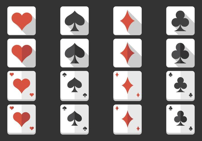 Playing Card Ikon Vector Pack