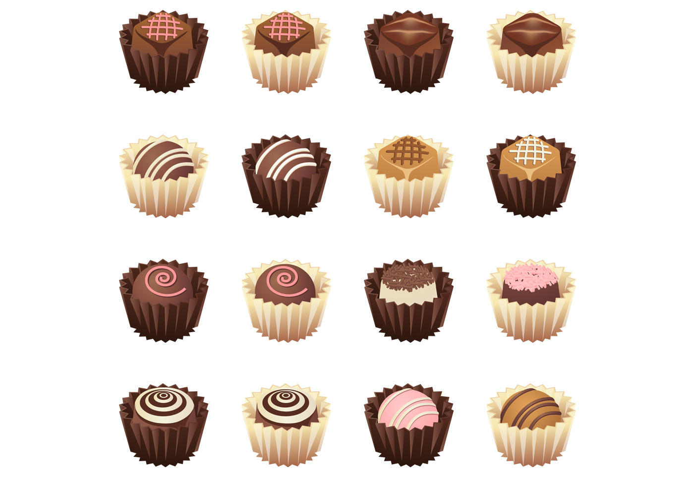 Gourmet Chocolate Vector Pack Download Free Vector Art