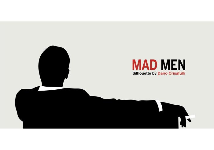 Mad Men Silhouette Vector
