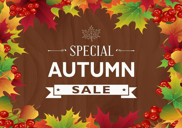 Colorful Autumn Leaf Sale Vector Background