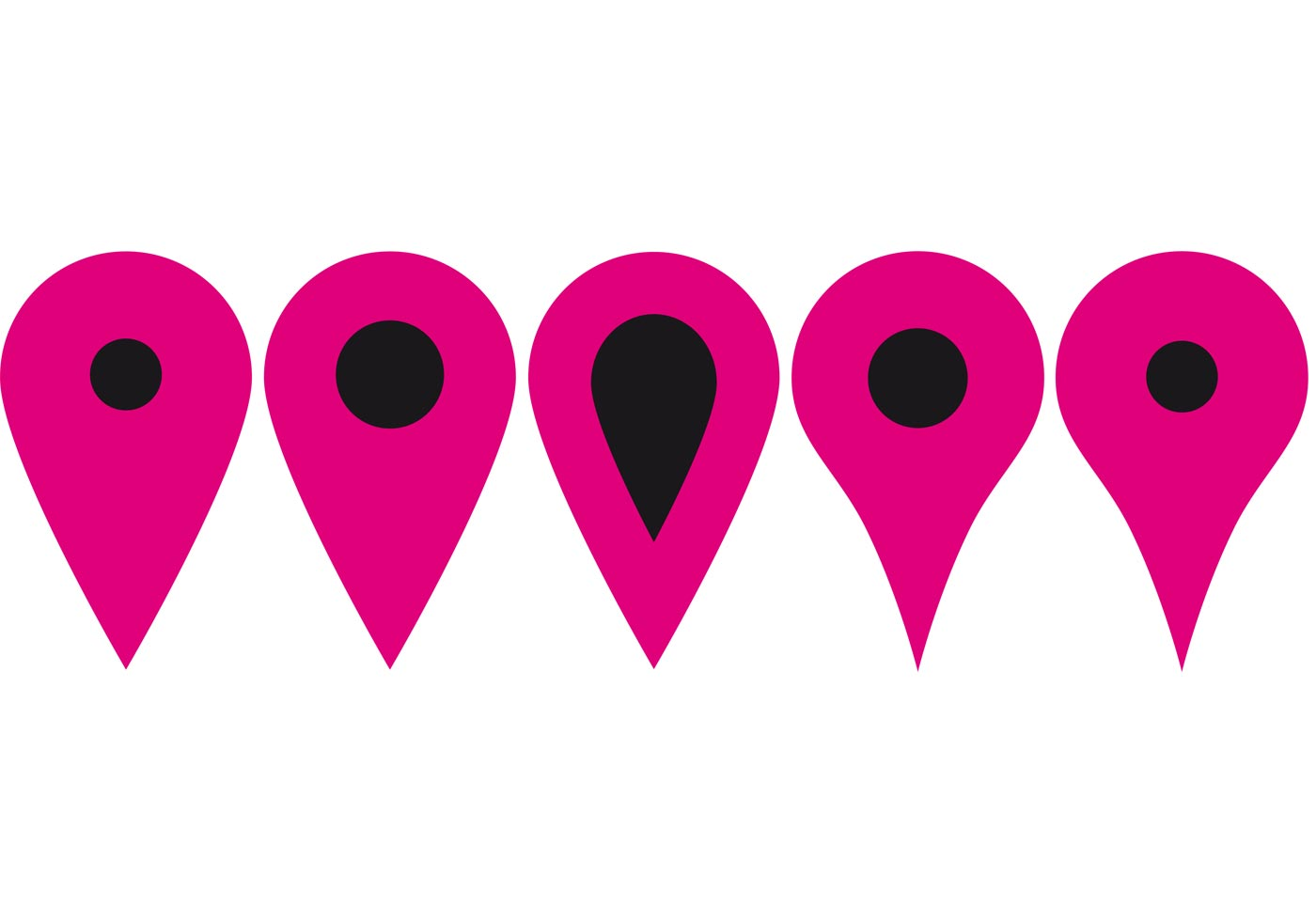 Free Google Maps Pointer Icon: Location Pointer Symbol Vectors