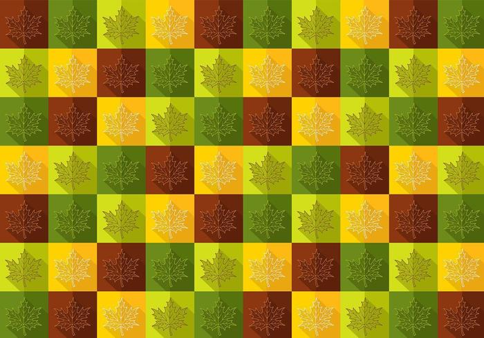 Fall Maple Leaf Vector Pattern