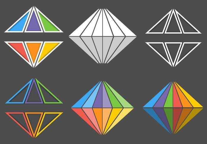 Rainbow Diamond Vector Logo Pack