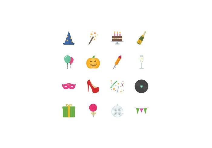 Party and Holiday Vector Icon Pack